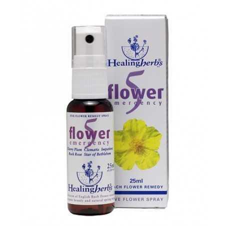 20ML SPRAY D' URGENCE  réutilisable et recyclable - 5 Fleurs - HEALINGHERBS - JULIAN BARNARD