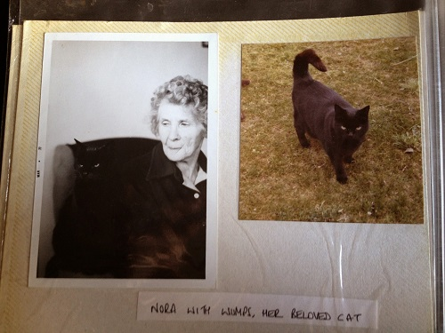 Nora Weeks et son chat Wumps